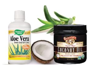 aloe and coconut Aloe Vera & Coconut Oil For Your Skin (Recipe)