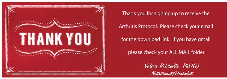 thank you arthritis Thank You! Your Arthritis Protocol
