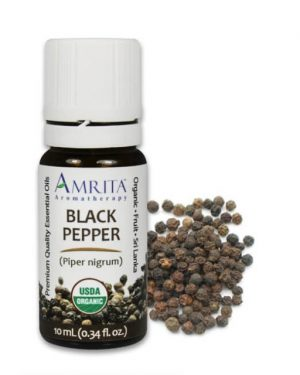 Amrita Black Pepper Essential Oil PATCHOULI ESSENTIAL OIL ORGANIC .25 OZ