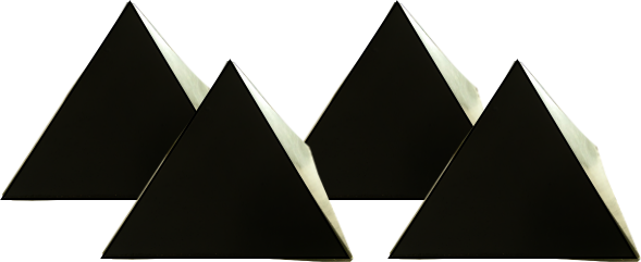 pyramids orgonite set of 4 Orgonite Total Family Defense System