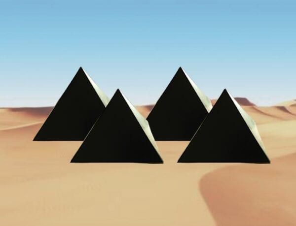 4 pyramids bg Orgonite Shungite Pyramids