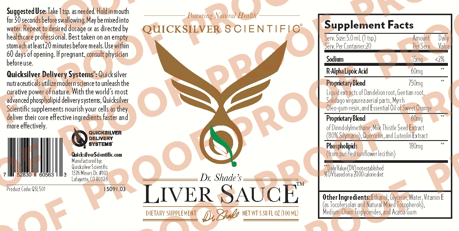 Liver Sauce 100ml Herbal Line 1509103 Nordic GLA 400 mg 4 oz