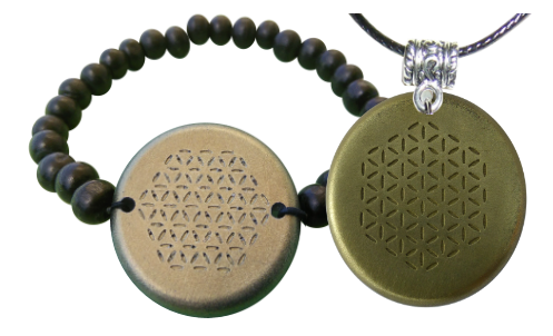 Set Bronze Bracelet and Pendant Orgonite Orgonite Bracelet and Pendant Sets