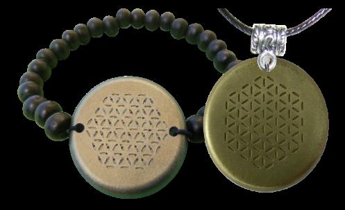 Set Bronze Bracelet and Pendant Orgonite Orgonite Jewelry Bracelet and Pendant Sets