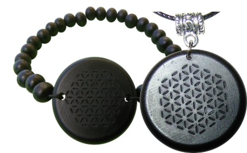 Set Shungite Bracelet and Pendant Orgonite Bracelet and Pendant Sets