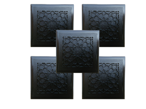 five Tiles design Beautiful Protective Shungite Orgonite Tiles | Moroccan Design