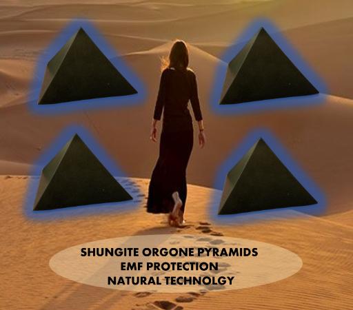 pyramids with Orgonite Shungite Pyramids