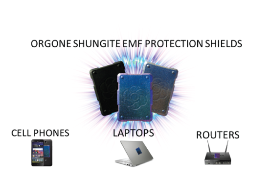 phone shield banner Shungite Orgonite phone shields for protection from radiation (video)
