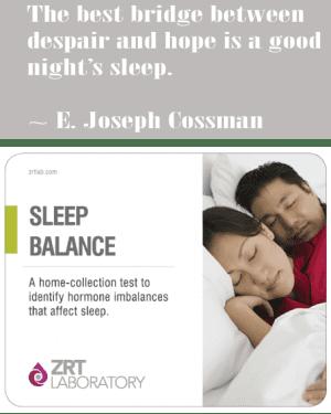 sleep balance2 Blood Spot Profiles