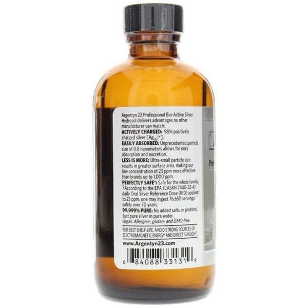 argentyn 23 professional silver hydrosol label Argentyn 23 Bio-Active Silver Hydrosol