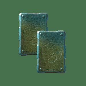 2 green shields Orgonite Phone Shields