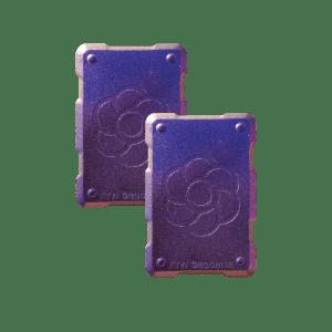 2 purple shields Orgonite Phone Shields