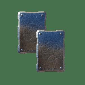 2 silver shields Orgonite Phone Shields