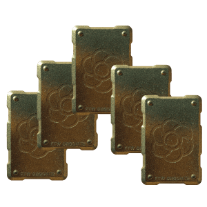 5 Bronze shields Orgonite Phone Shields
