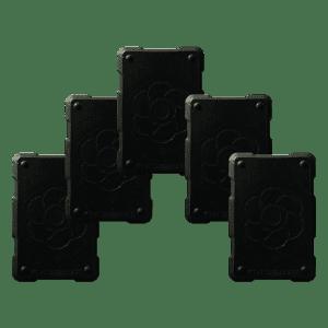 5 black shields Orgonite Phone Shields