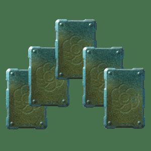 5 green shields Orgonite Phone Shields