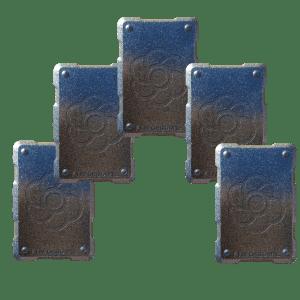 5 silver shields Orgonite Phone Shields