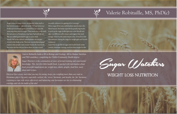 Book cover new logo Sugar Watchers by Valerie Robitaille, PhD