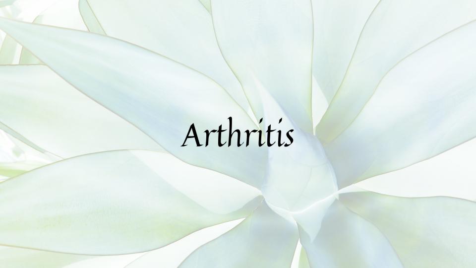 Arthritis food plan