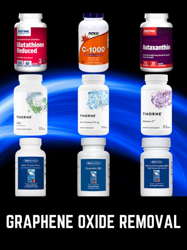 GRAPHENE OXIDE REMOVAL 2 Graphene Oxide Removal Supplements