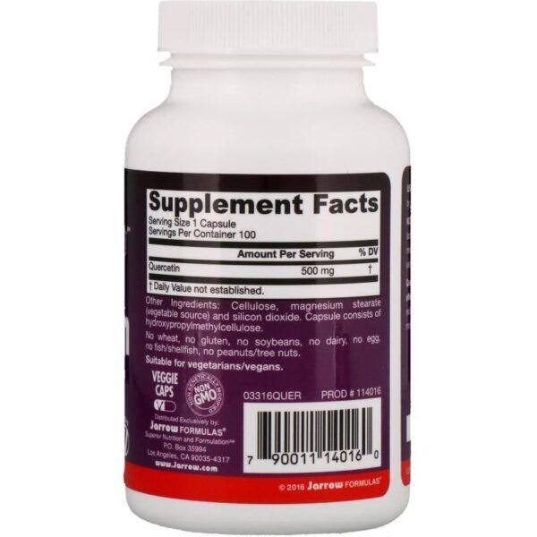 jarrow formulas quercetin 500 mg Quercetin 500 mg 200 caps