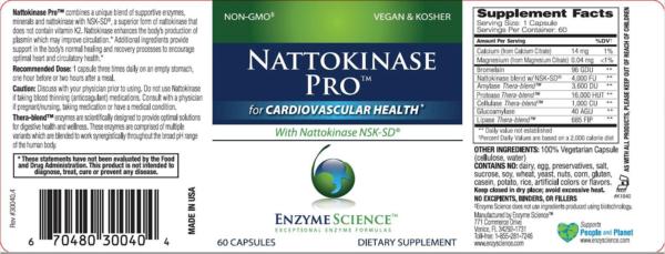 natto label Nattokinase Pro 60 Capsules
